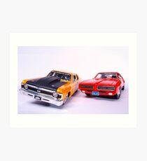 american muscle cars Art Print