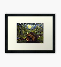 The Barn in Firefly Field Framed Print