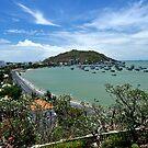 Nui Nho (Small Mountain) and bay. Vung Tau, Vietnam by Sheldon Levis