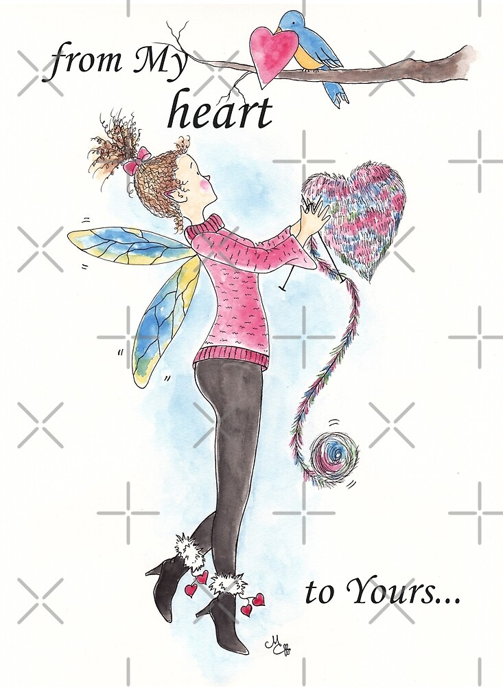 """""""From My Heart to Yours"""" Valentine, Thank You, or Anytime - The Knittington Fairies Series by LeisureLane1"""