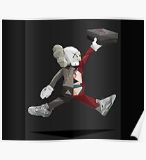 kaws air jump Poster