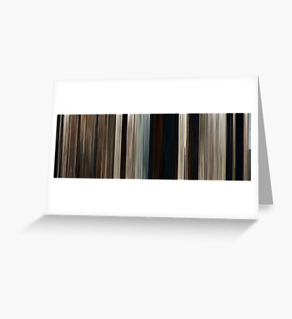 Moviebarcode: True Grit (2010) Greeting Card