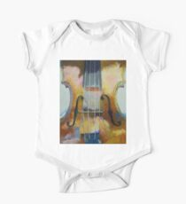Violin Painting One Piece - Short Sleeve
