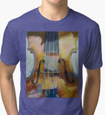 Violin Painting Tri-blend T-Shirt