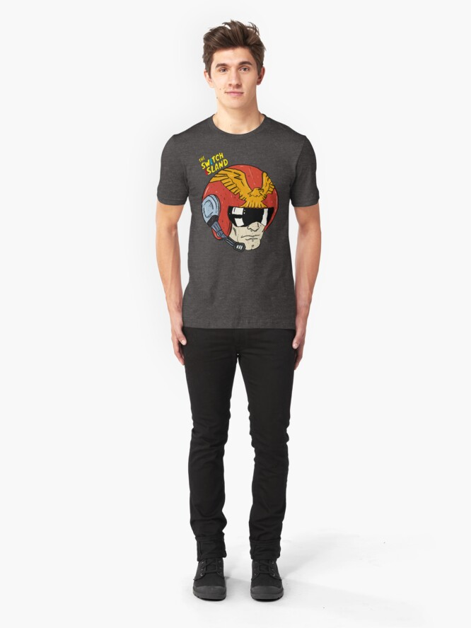 Alternate view of Captain Falcon On The Switch Island Slim Fit T-Shirt