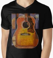 Guitar Mens V-Neck T-Shirt