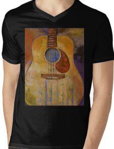 Acoustic Guitar Mens V-Neck T-Shirt