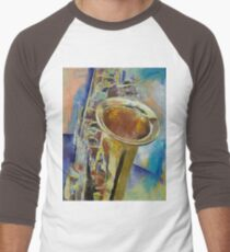 Saxophone Men's Baseball ¾ T-Shirt