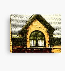 The Old Depot Windows Canvas Print