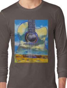 Guitar and Clouds Long Sleeve T-Shirt