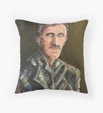 Innovators - Nikola Tesla Throw Pillow
