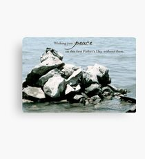 Peace on Your First Father's Day (multiple loss) Canvas Print