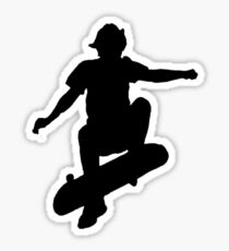 Skater Small - Black Sticker