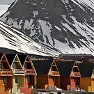 Longyearbyen houses by Algot Kristoffer Peterson