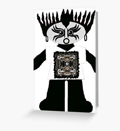 Little Goth Rag Doll Wearing Mommy's Art 10 Greeting Card