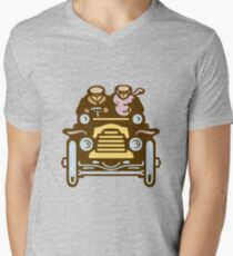 Vintage Traveller Mens V-Neck T-Shirt