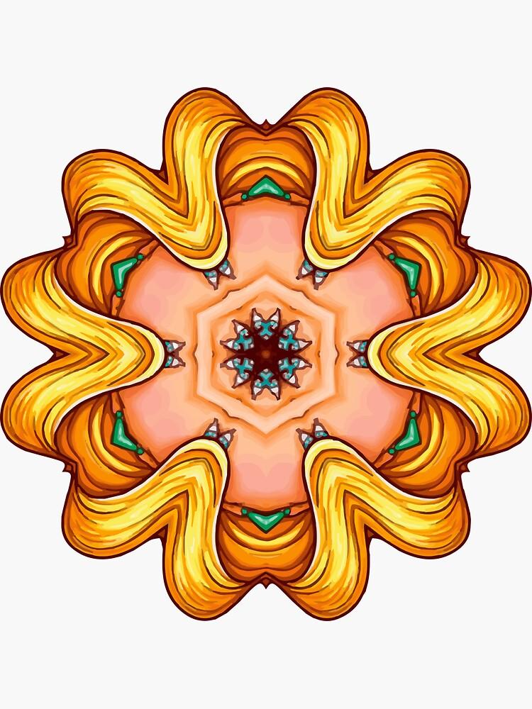 NANDALA 4C 001 - Sticker (Colourful Pop-Art meets Mandala Digital Art) von nenART-Official