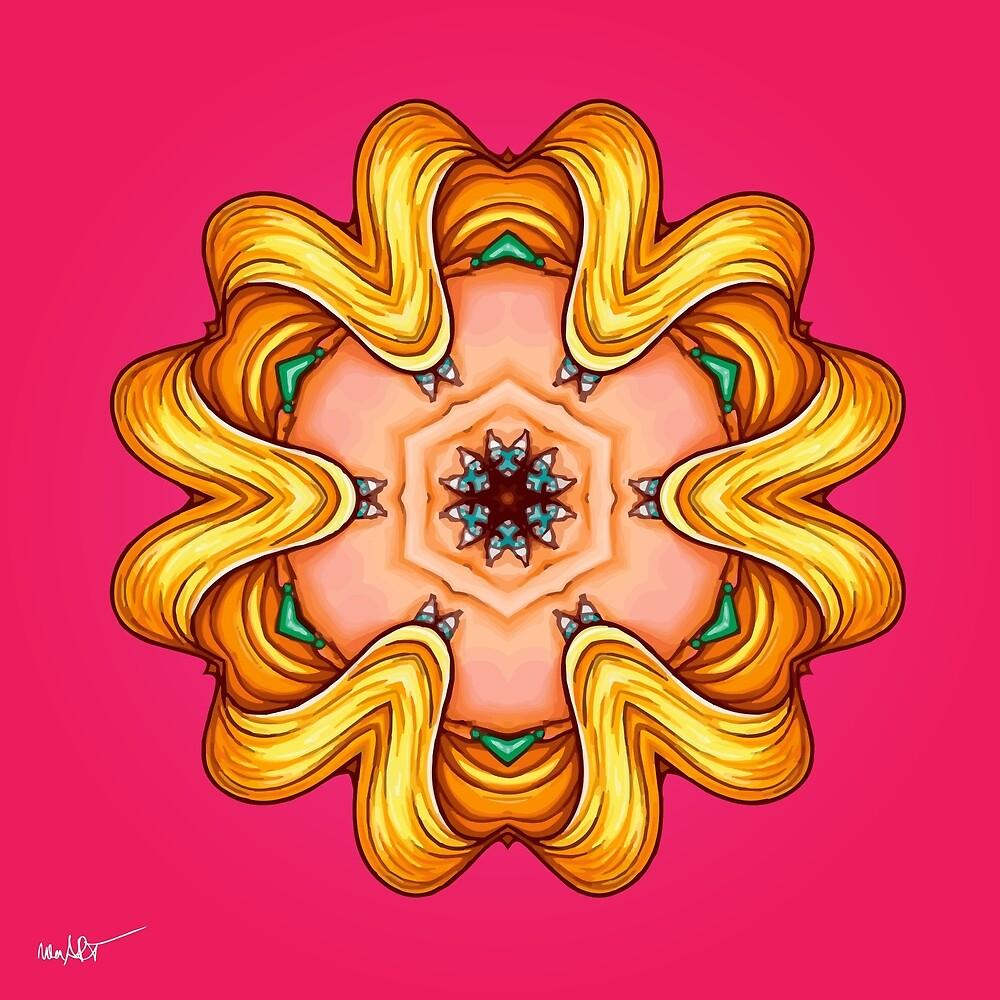 NANDALA 4C 001 - Print (Colourful Pop-Art meets Mandala Digital Art) von nenART-Official
