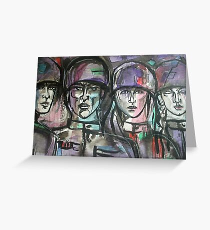 Faces of Soldiers Greeting Card