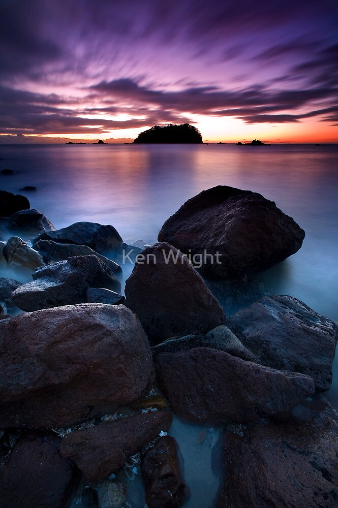 Motuotau Streaming Dawn by Ken Wright