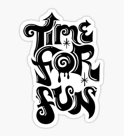 Time for fun - on lights Sticker
