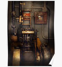 Steampunk - Back in the engine room Poster