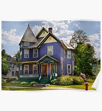 House - Victorian - Waterbury,VT - There lived an old lady who lived in a house Poster
