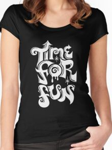 Time for fun - on darks Women's Fitted Scoop T-Shirt