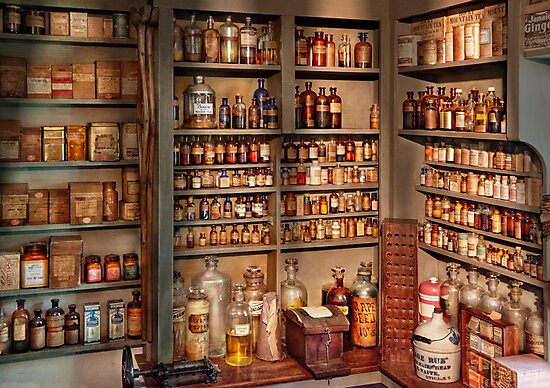 Pharmacy - Get me that bottle on the second shelf by Mike  Savad