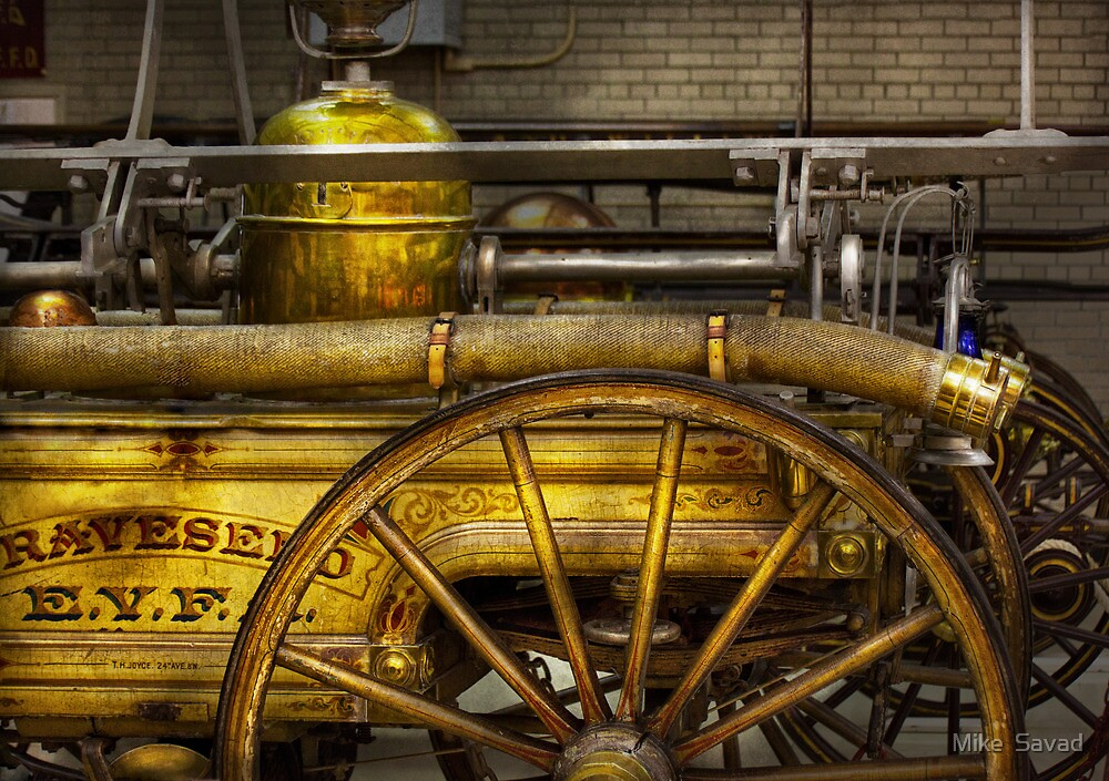 Fireman - Piano Engine - 1855  by Michael Savad