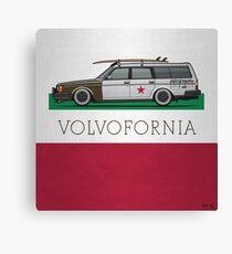 Volvofornia Slammed Volvo 245 240 Wagon California Style Canvas Print