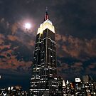 Empire state super moon by mindrelic