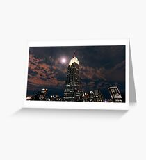 Empire state super moon Greeting Card