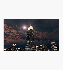 Empire state super moon Photographic Print