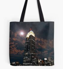Empire state super moon Tote Bag