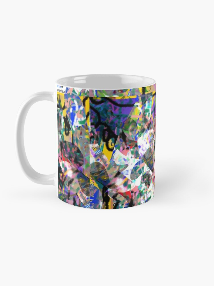 Alternate view of Saliva (abstract microscopic digital artwork) Mug