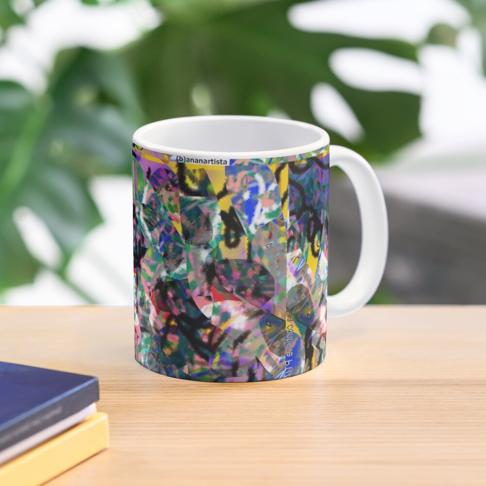 Saliva (abstract microscopic digital artwork) Mug
