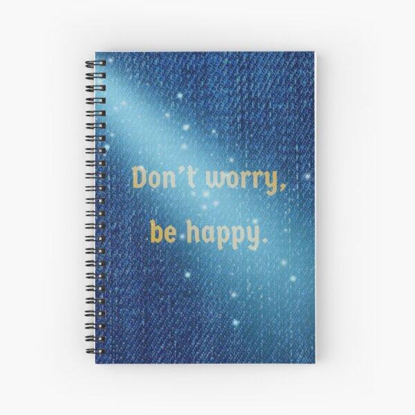Blue Denim Effect Spiral Notebook