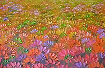Water-lilies in oil by Ali Brown