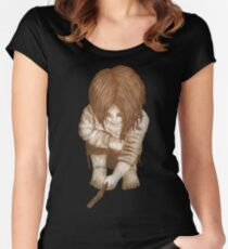 Alone - Sepia Women's Fitted Scoop T-Shirt