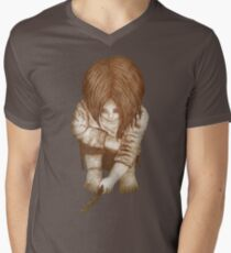 Alone - Sepia Men's V-Neck T-Shirt