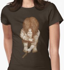 Alone - Sepia Women's Fitted T-Shirt