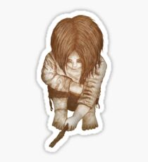 Alone - Sepia Sticker