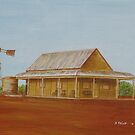 Old Building at Silverton NSW - PAINTING by Sandy1949