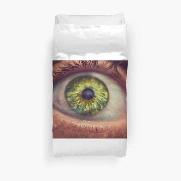 Stars in Green Eyes Duvet Cover