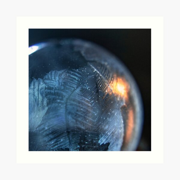Ice Feathers in Bubble Art Print