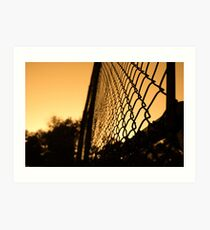 Sunset cage Art Print
