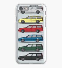 A Stack of Volvo 850 V70 T5 Swedish Turbo Wagons iPhone Case/Skin