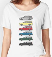 A Stack of Volvo 850 V70 T5 Swedish Turbo Wagons Women's Relaxed Fit T-Shirt