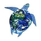Mother Earth Sea Turtle by Jami  Amerine